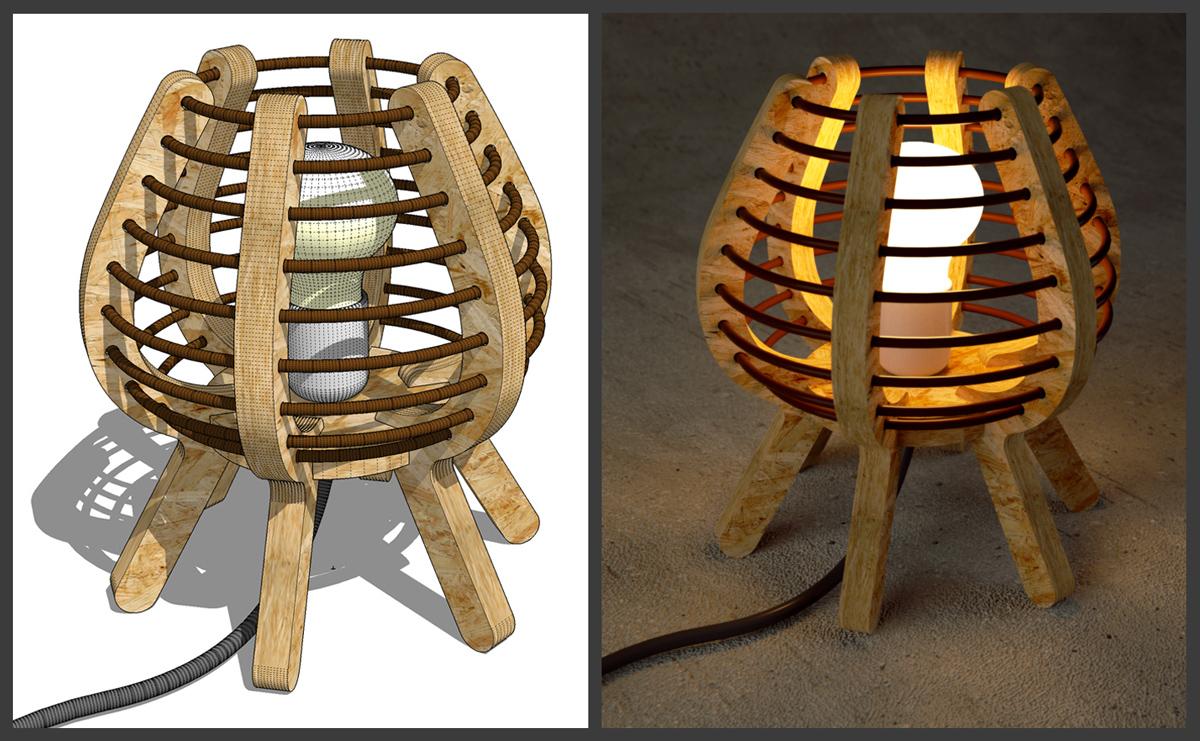 sketchup-kurs_OSB-Lampe
